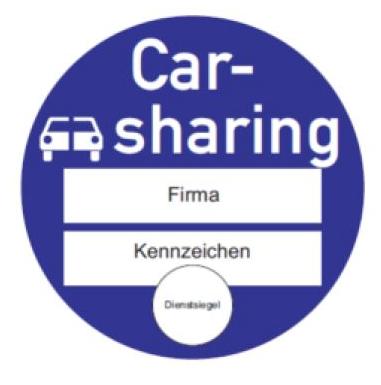Carsharing Plakette