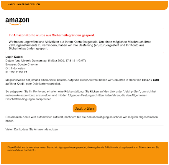2020-03-07 Amazon Phishing