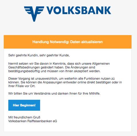 2020-03-08 Volksbank Spam-Mail Anpassung unserer Allgemeinen Geschaeftsbedingung