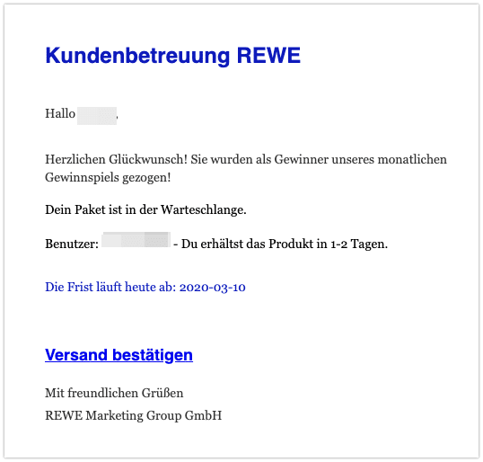 2020-03-11 Spam Mail Rewe