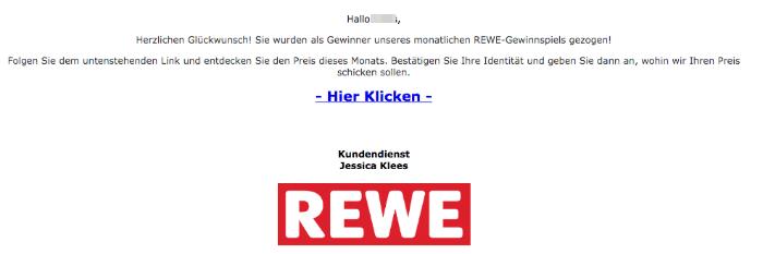 2020-03-15 REWE Spam Fake Mail Gewinn