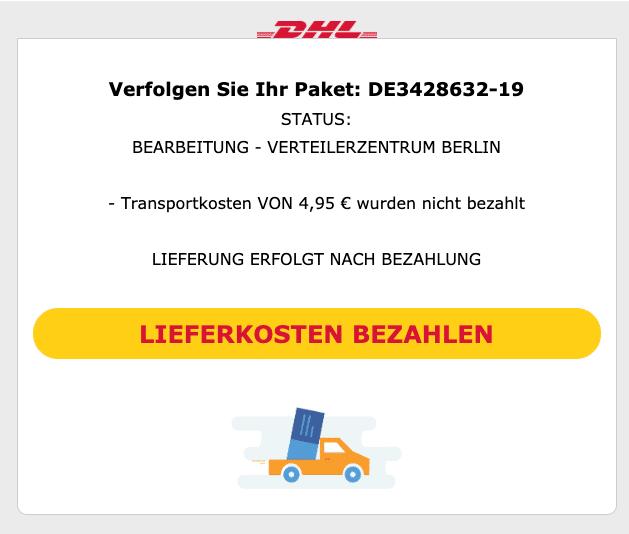 2020-03-18 DHL Spam-Mail Verfolgen Sie Ihr Paket