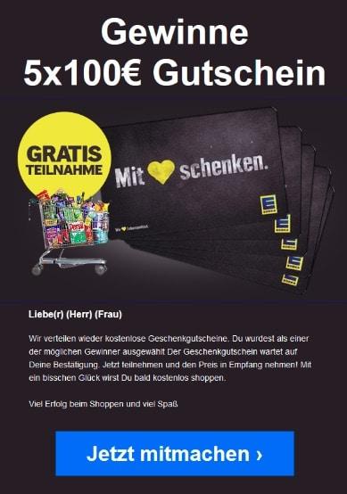 2020-03-21 Edeka Spam Fake-Mail 100 Euro Gutschein Abofalle