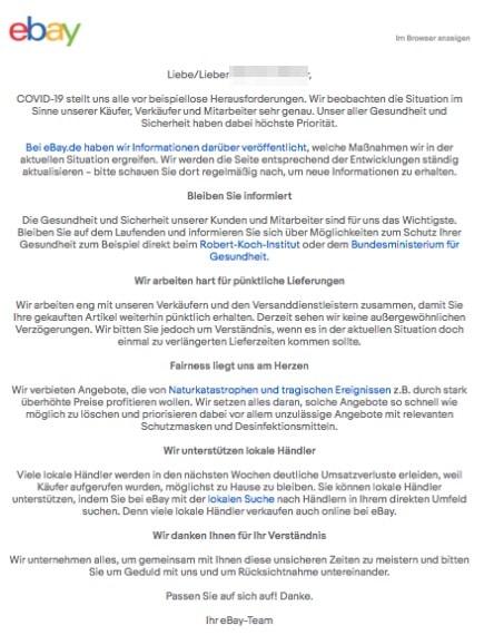 2020-03-21 ebay E-Mail zum Coronavirus Covid-19