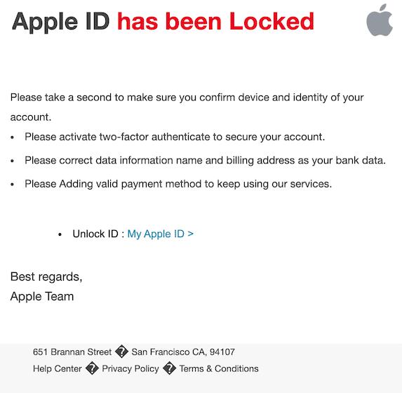 2020-03-25 Apple Phishing