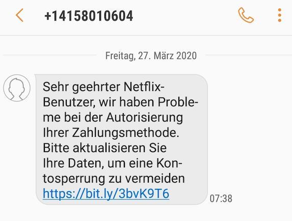 2020-03-27 Phishing Netflix