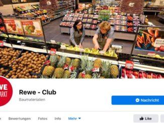 2020-03-29 Facebook-Seite Rewe - Club ist Fake
