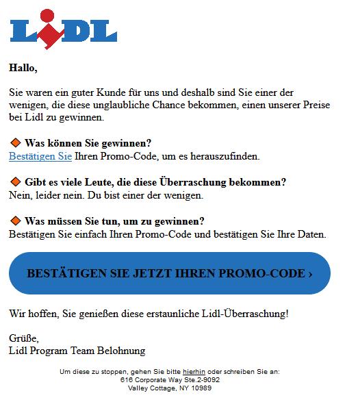 2020-03-29 Lidl Spam Fake-Mail Glueckwunsch
