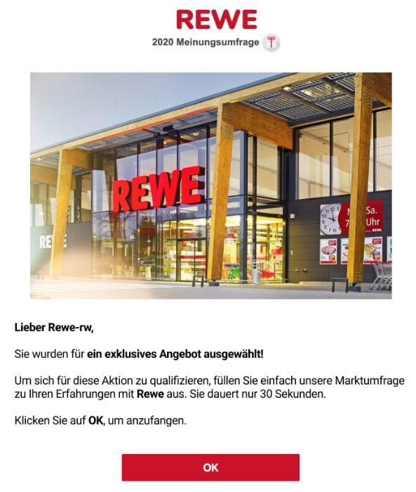 2020-03-31 Rewe Spam Fake-Mail Abofalle Wir riefen an Du hast nicht geantwortet
