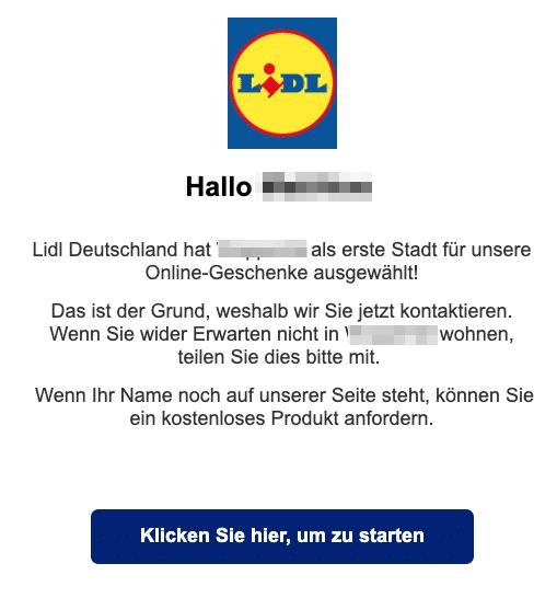 2020-04-01 Lidl Spam Fake-Mail Wohnen Sie noch in