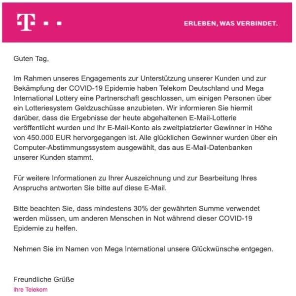 2020-04-02 Deutsche Telekom Spam-Mail Gewinn MEG:01B-002DE