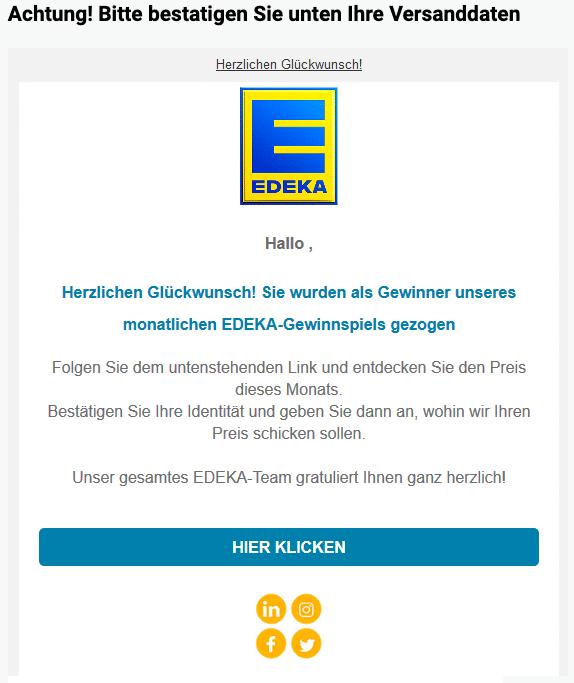 2020-04-03 Edeka Spam Fake-Mail Herzlichen Glueckwunsch