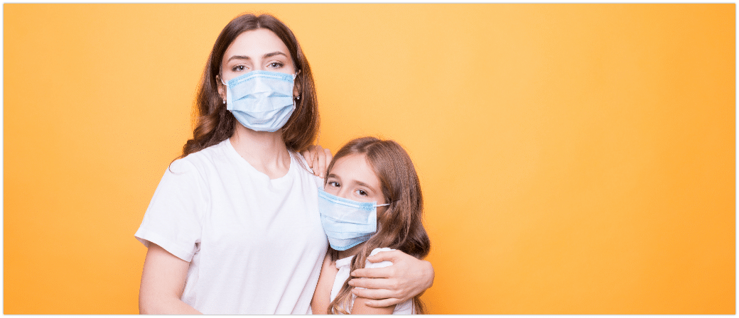 Coronavirus Mundschutz Kind