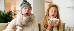 Grippe Erkältung Gesundheit Schnupfen Symbolbild