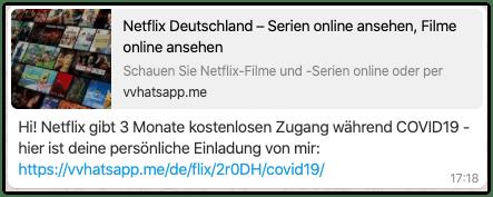Kettenbrief Netflix Covid19