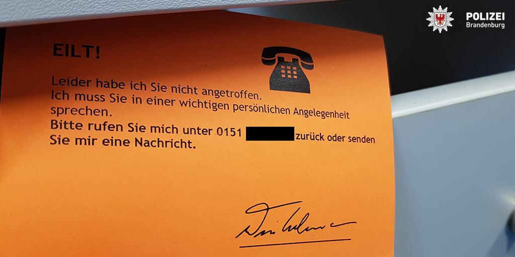 Polizei Brandenburg warnt vor dubioser Abofalle im Briefkasten