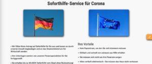 soforthilfe-fur-corona.de Fake Seite Spam Betrug