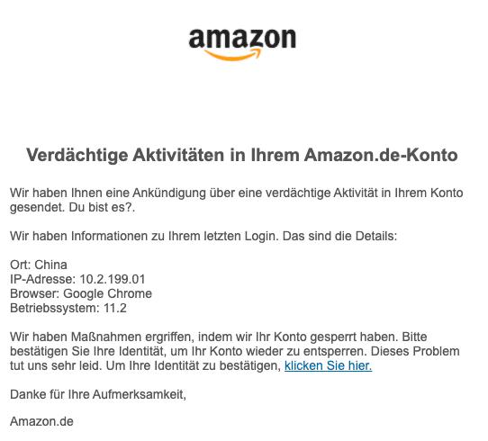 2020-04-03 Amazon Spam-Mail Phishing Sicherheit