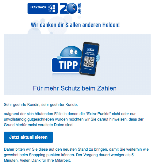 2020-04-05 Payback Spam-Fake-Mail Bleib gesund