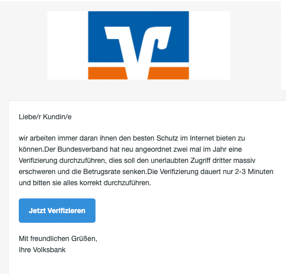 2020-04-14 Volksbank Spam Fake-Mail infos
