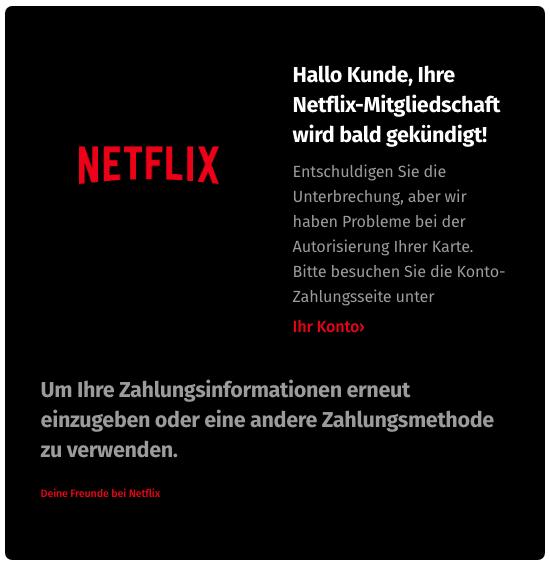 2020-04-18 Netflix Spam-Mail Mitgliedschaft gekündigt