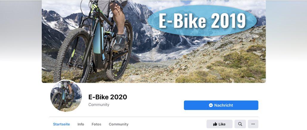 2020-04-20 Facebook Seite E-Bike 2019 E-Bike 2020