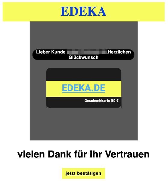 2020-04-25 Edeka Spam-Mail Abofalle Geschenke exklusiv für EDEKA-Kunden