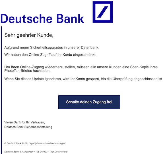 2020-04-27 Deutsche Bank Phishing