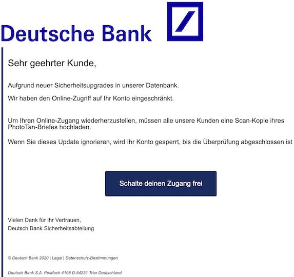 2020-04-27 Deutsche Bank Phishing