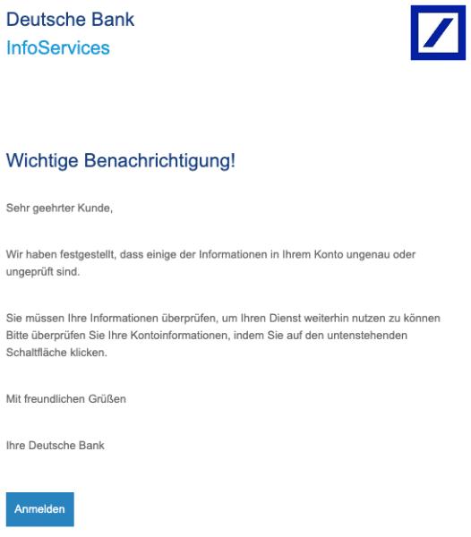 2020-04-27 Deutsche Bank Spam Fake-Mail Neue Benachrichtigung
