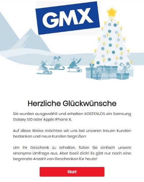 Spam Mail Gmx