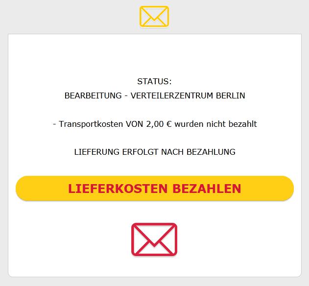 2020-05-15 DHL Spam Mail AbofalleIhr Paket ist Versandbereit Die Restlichen Versandk0sten Betragen 2,00