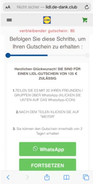 2020-08-13 WhatsApp Kettenbrief Lidl 125 Euro Gutschein 3