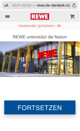 2020-08-13 WhatsApp Kettenbrief REWE 125 Euro Gutschein 1