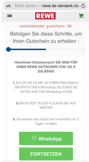2020-08-13 WhatsApp Kettenbrief REWE 125 Euro Gutschein 3