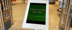 Aldi Suisse Corona-Ampel Einlasskontrolle