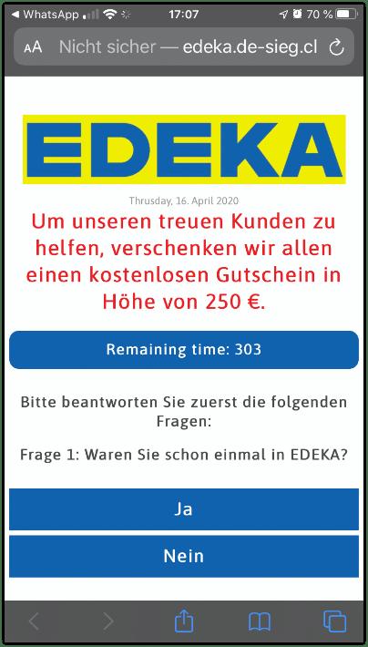 Facebook KEttenbrief Edeka 250 Euro Gutschein1