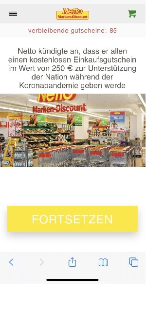 2020-05-02 Netto WhatsApp Gutschein 250 Euro 1