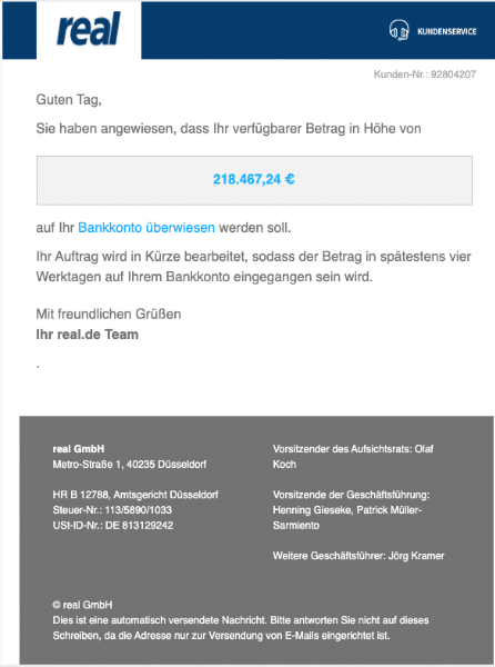 2020-05-13 Real Spam Fake-Mail Ihr Auftrag wird in Kuerze bearbeitet 22654230
