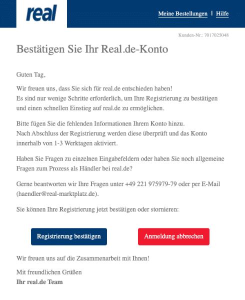 2020-05-13 Real Spam-Mail Bestaetigen Sie jetzt Ihre Registrierung auf real-de