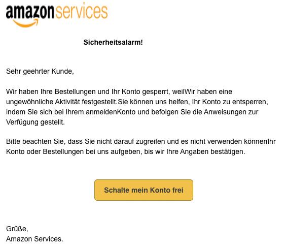 2020-05-18 Amazon Fake-Mail Sicherheitswarnung