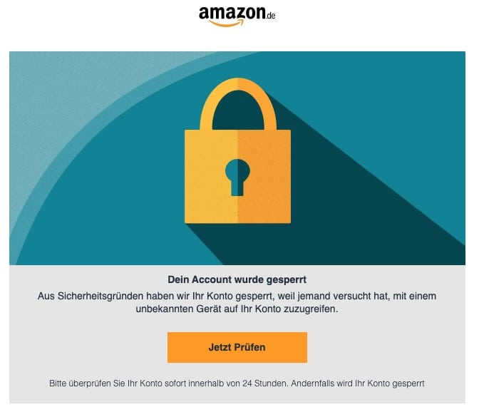 2020-05-19 Amazon Phishing Fake-Mail Informationen zur Ihrem Amazon-Konto