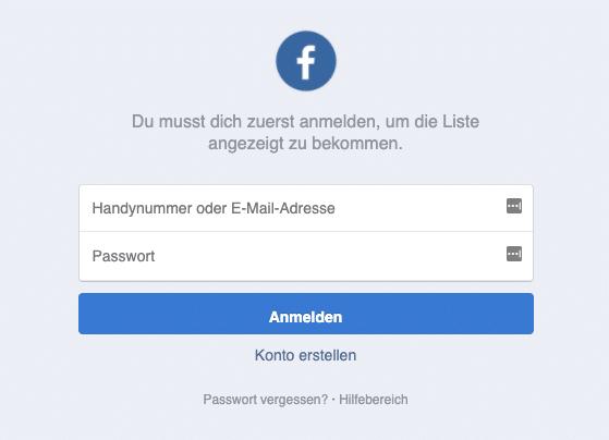 2020-05-19 Facebook Fake-Webseite Profil Besucher Login