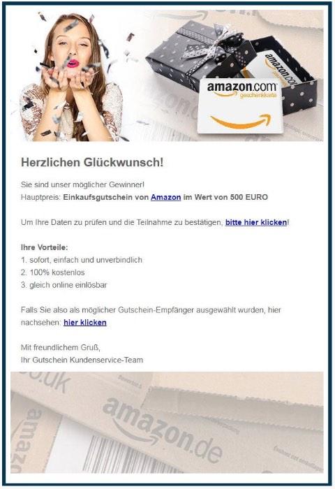 2020-05-22 Amazon Spam-Mail Sie wurden ausgewählt