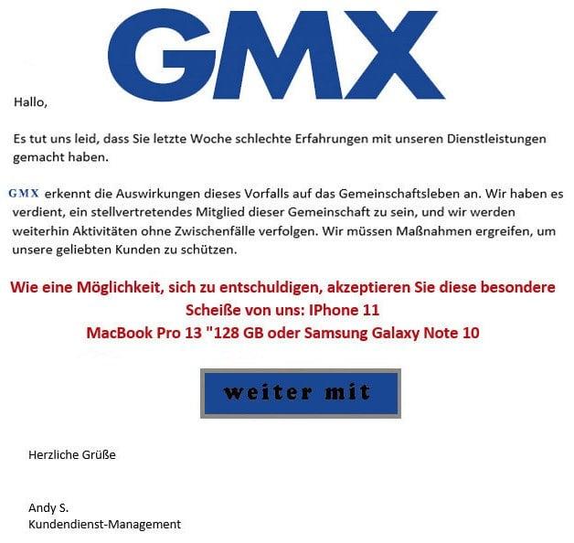 Spam Gmx