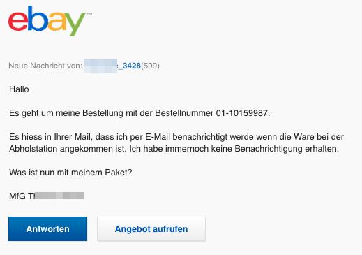 2020-05-28 eBay Spam Fake-Mail Neue Nachricht- Hallo Es geht um meine Bestellung
