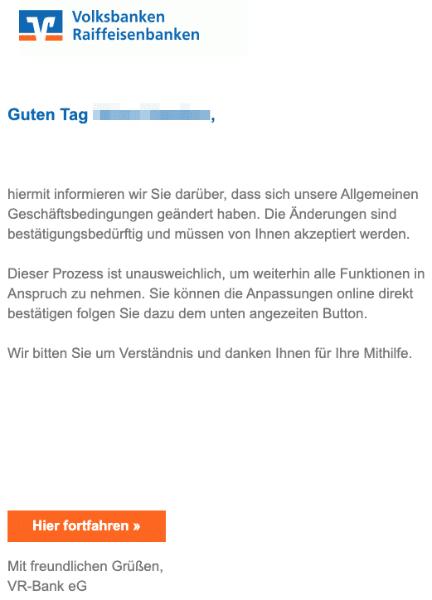2020-05-29 Volksbank Spam Fake-Mail Neue Regelung von Kundendienst-VR