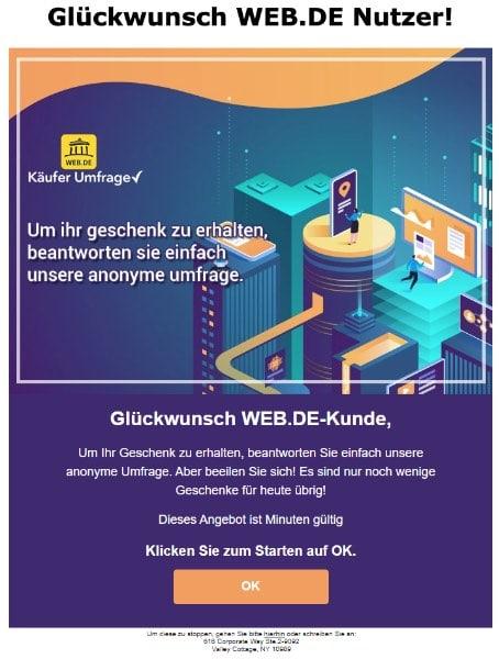 2020-06-02 web-de Spam Fake Mail Glueckwunsch WEB-DE_Nutzer
