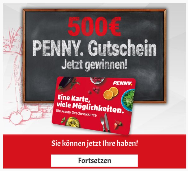 2020-06-05 Penny Gutschein 500 Euro Spam Fake-Mail