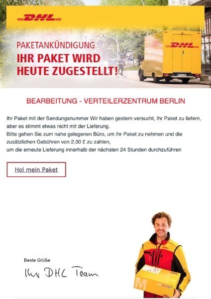 2020-06-18 DHL SPam Fake-Mail Ihr Paket wird zurueckgesandt